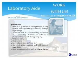 laboratory aide